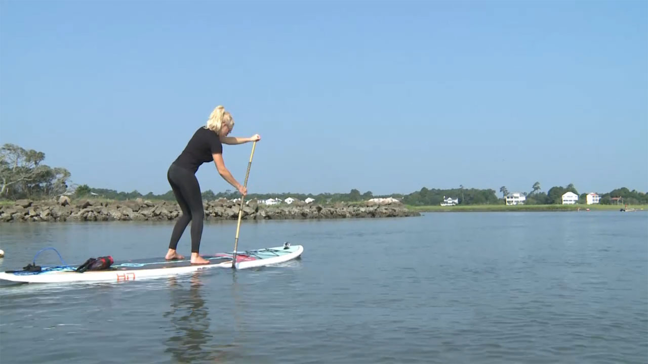 Paddleboarding with Natalie Gulbis