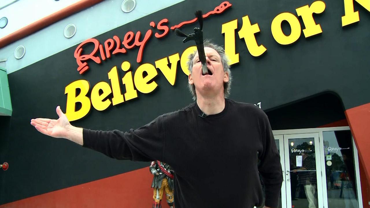 Sword Swallower at Ripley's Believe It or Not