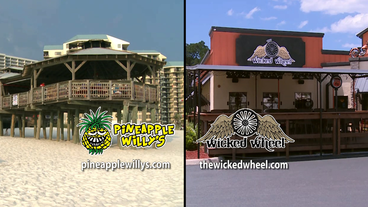 Pineapple Willy's and Wicked Wheel - Best Places to Eat on the Beach