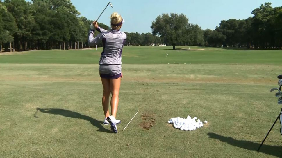 Natalie Gulbis Alignment Stick Use - A Piece of Advice