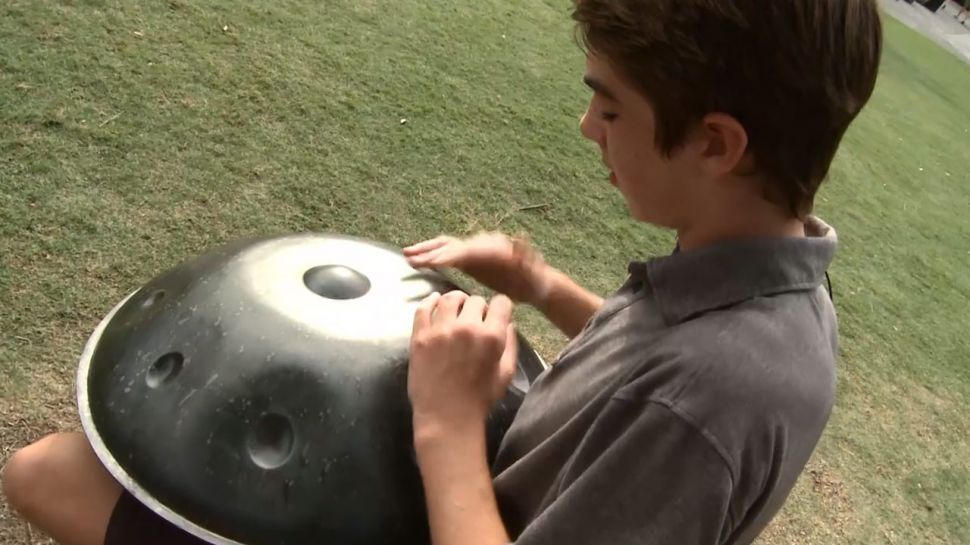 Sterling Tyler Handpan Drum at Baytowne Wharf