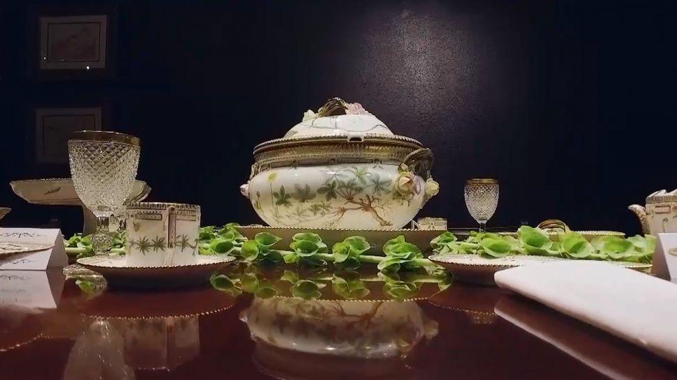Flora Danica Porcelain Dinner Service at M.S. Rau