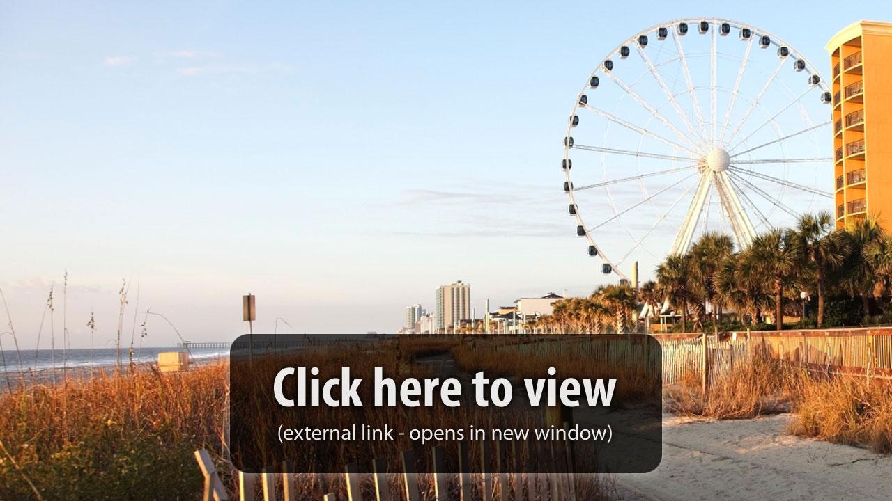 Myrtle Beach Boardwalk Pier 14 Live Cam