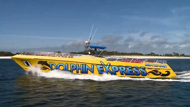 Dolphin express nightlife tripsmarter com for Surf fishing panama city beach